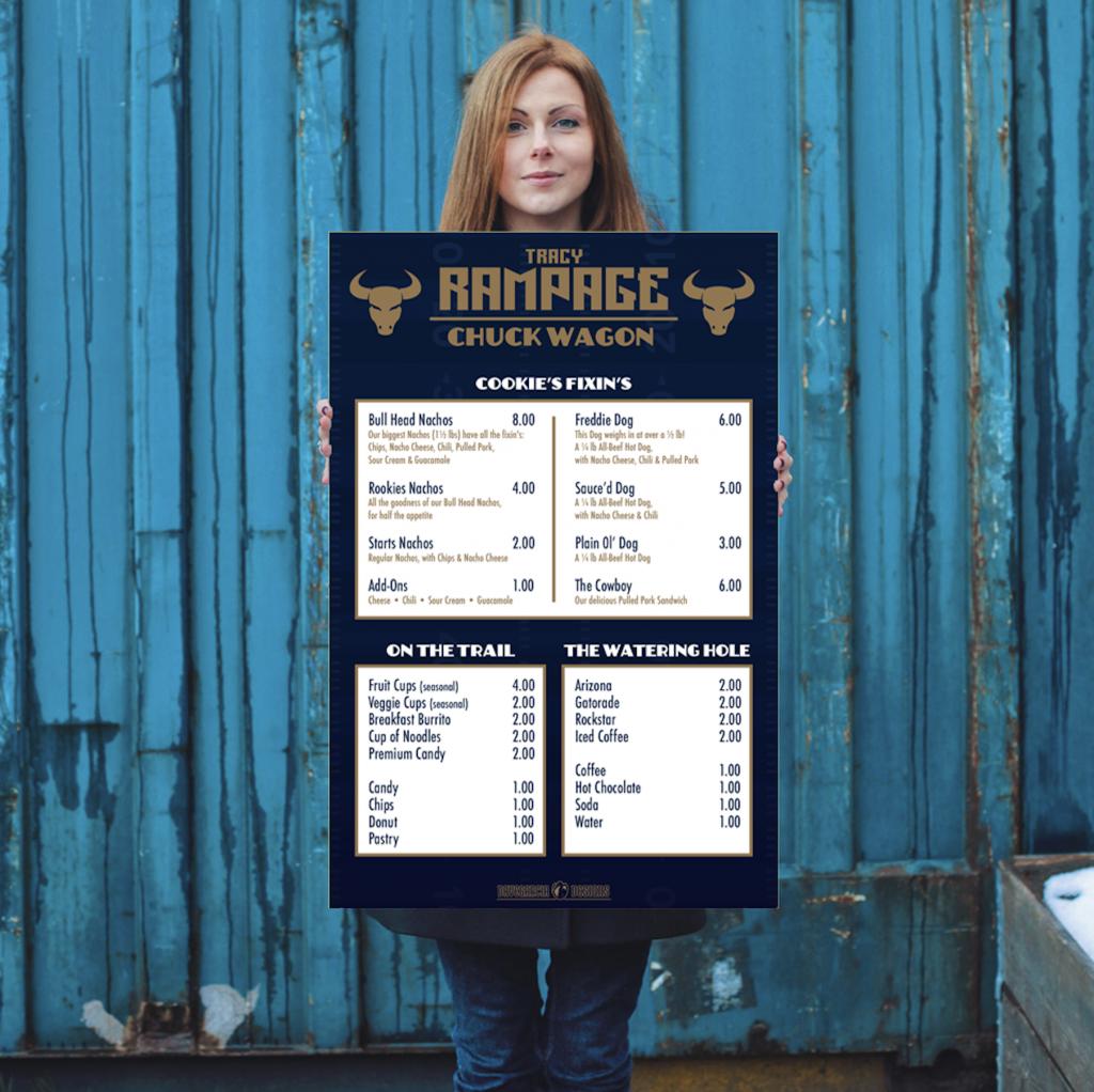 rampage menu poster