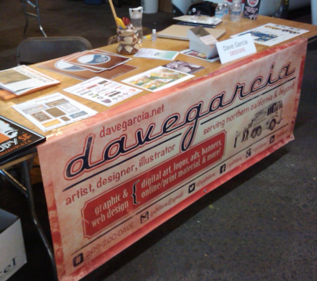 vinyl table sign